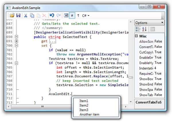 Best Text Editor Component for  NET WPF Developers – TECH NOTES
